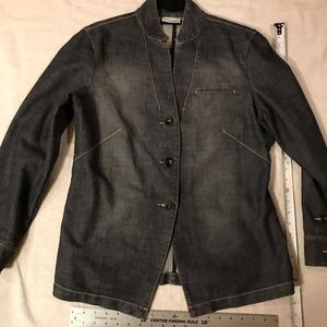 Jacket, Black Denim, Chico's, Slight Stretch, sz 1